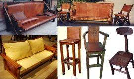 家具原木松木榆木沙发