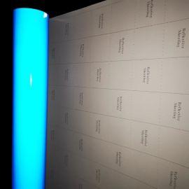 厂家直销5100工程级反光膜可丝印PET材质超亮玻璃微珠结构反光膜