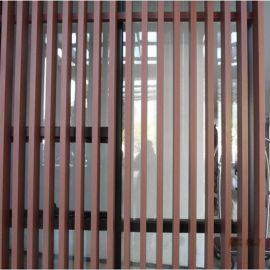 热转印木纹方通 外墙铝合金方通 外墙型材木纹铝方通装饰