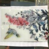 家装背景屏风艺术玻璃 专业定制生产 珐琅彩玻璃