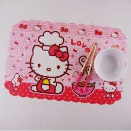 塑料餐垫 PP餐垫杯垫 卡通印刷餐垫 环保产品科定制