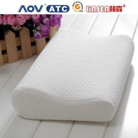 厂家林森供应太空记忆枕慢回弹枕头零压力记忆棉波浪枕枕头批发