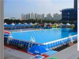 鄭州廠家供應支架水池|鋼架游泳池|移動游泳池