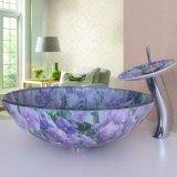 000426紫花雙面玻璃盤套裝