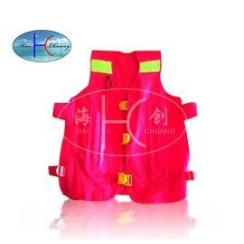 海川手动背心式气胀救生衣,马甲式全自动充气救生衣