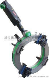 上海CANZ牌电动管子坡口机,对直径Φ227-377管子进行切割及坡口,质量信的过。