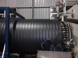 PE双平壁缠绕管塑钢大口径缠绕排水管设备