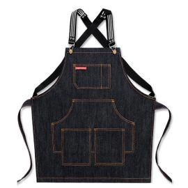 创意跨境牛仔布围裙 咖啡师厨房牛仔围裙 定做印LOGO厂家直销