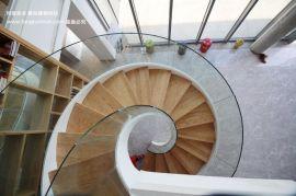 室内旋转楼梯 钢木旋转楼梯厂家