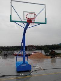 深圳篮球架拆装换篮板电话带轮埋地篮球架