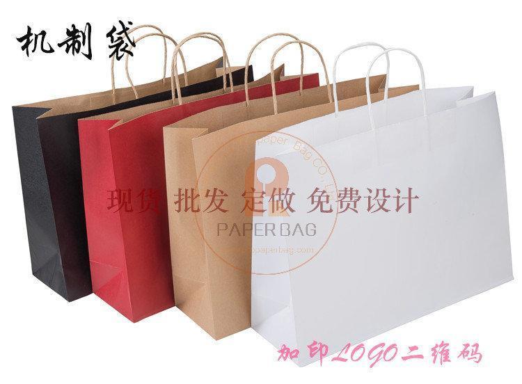 现货加大号 牛皮纸袋子 服装包装袋 可批发印刷定做衣服店用品袋