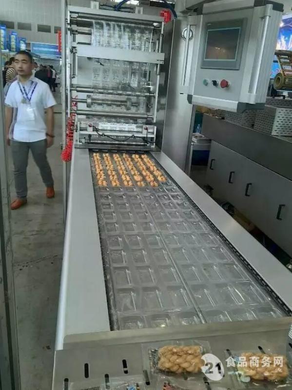 全自动拉伸膜真空包装机  食品真空包装机