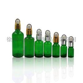 帶刻度滴管的30毫升綠色血清玻璃瓶