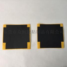 机顶盒专用散热片 黑色铝箔胶带模切定制 纳米碳铝料喷涂板厂家