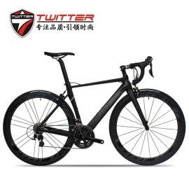 骓特TW750Carbon碳纤维公路自行车 22速公路车碳轮组变速竞赛车
