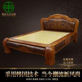双东玉玉石床垫DY505韩式真皮实木双人床冬暖夏凉**加热床