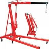 2T优质发动机吊机-折叠式吊机-液压提升机-千斤顶-汽保工具