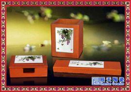 办公礼品陶瓷茶杯三件套 陶瓷茶杯三件套批发 陶瓷三件套订做