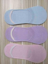 春夏薄款全棉隱形襪 純色女士隱形襪 矽膠防滑淺口船襪 廠家襪子批發