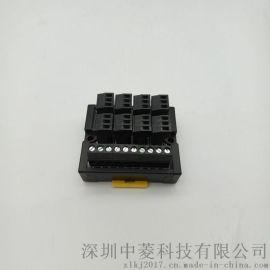 大批现货PLC接线端子台3线式8位输入端子台 可替代siron胜蓝T081/T081-P