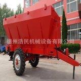 拖拉机带撒粪车 新疆内蒙7吨牛羊粪抛粪机 撒肥车