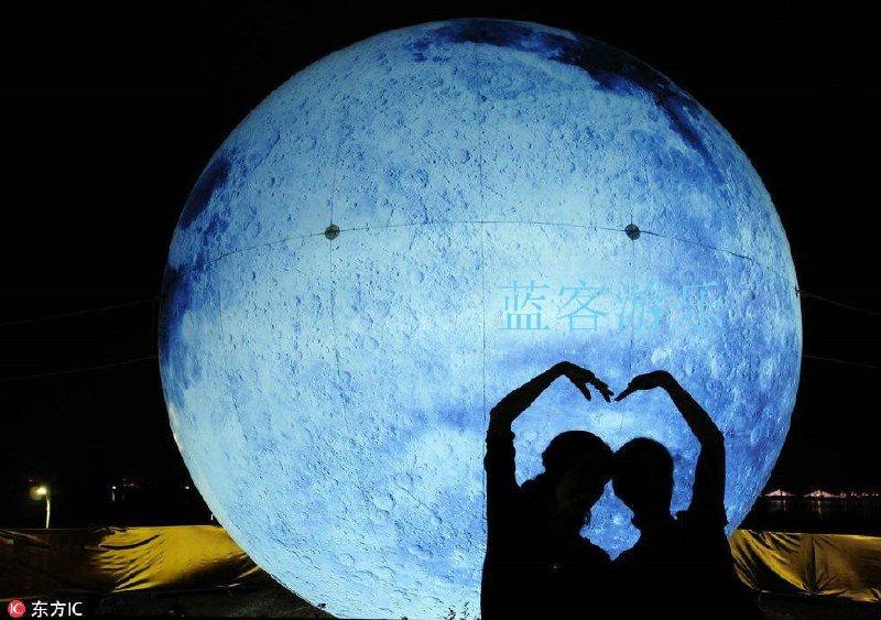 移動式充氣月亮氣模小型充氣月亮氣模
