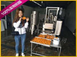 肉饼油炸机设备 肉饼挂浆机 肉饼成型加工生产线