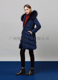 高端羽絨服品牌折扣女裝批發貨源就到廣州明浩