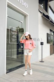 新款夏装情侣T恤韩版时尚连衣裙低价T恤纯色工字背心