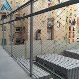 兜石头网 菱形钢丝绳网 动物园绳网围栏