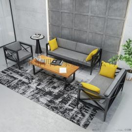 loft工業風辦公室商務會客接待沙發椅組合