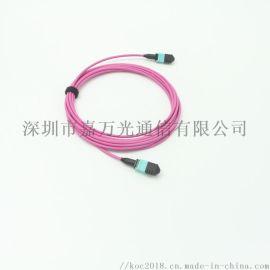 光纤跳线MPO-MPO12芯多模OM4光纤跳线