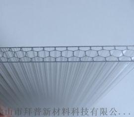 10mm透明蜂窝阳光板直销定做