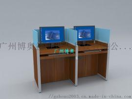 博奥屏风自动升降电脑桌