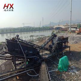 流动车载机制砂设备 移动式锤式粉碎机一次成型