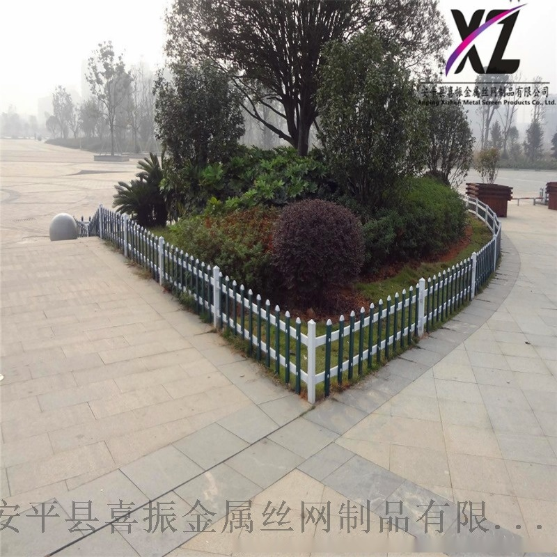 道路塑钢围栏,绿化区草坪护栏,道路绿化护栏栅栏