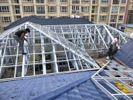 华中平改坡加盖金属屋面轻钢屋面