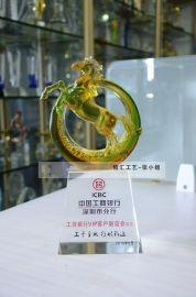业绩奖奖杯,银行年终  员工奖杯,深圳水晶奖杯定制