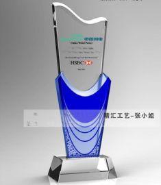 服务周年员工水晶奖杯,北京水晶奖杯制作,年度  水晶奖杯奖品