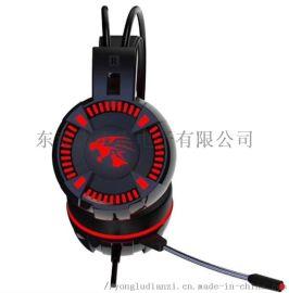 供应台盾耳机V2949发光 震动 游戏 头戴式耳机