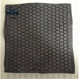 eVA泡棉 热压成型黑色配件 箱包护垫
