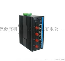 百千混合二层网管型工业以太网交换机千兆光口2个