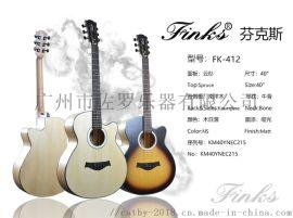 芬克斯品牌40寸中檔民謠吉他