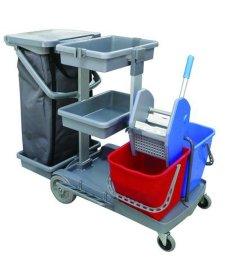 双水榨桶清洁服务手推车 (JT-150)