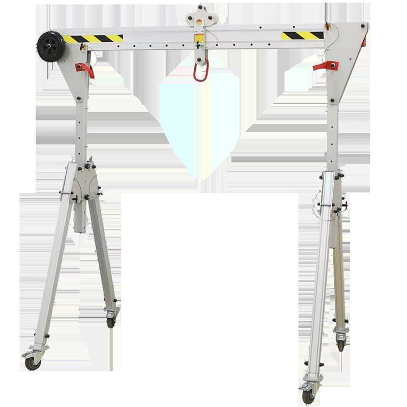 上海生产小型移动龙门架,手推门架起重机 铝合金移动折叠龙门吊
