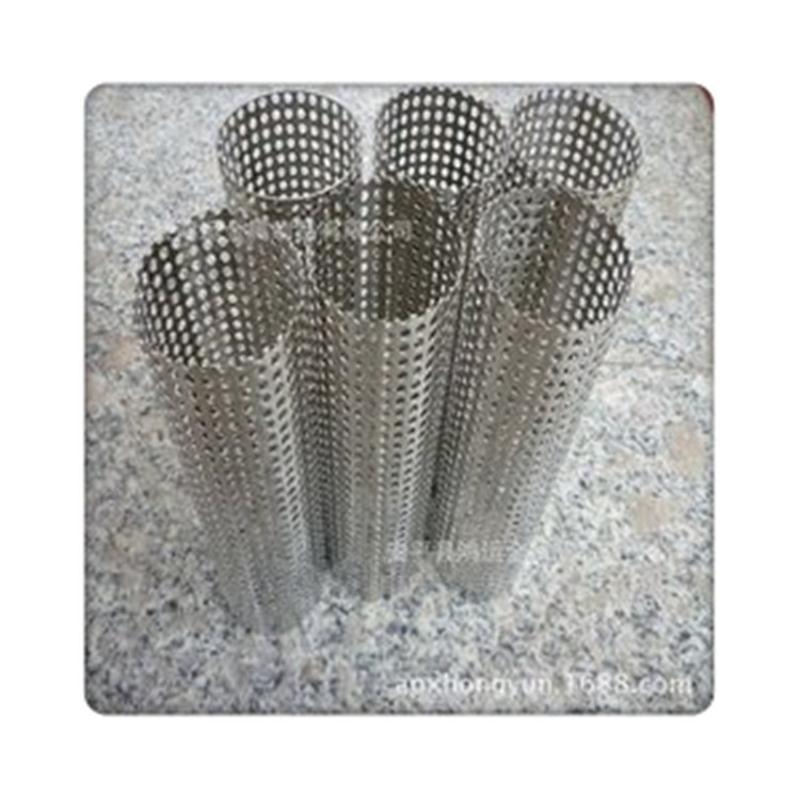 定做不鏽鋼衝孔網圓柱筒 法蘭式過濾筒不鏽鋼衝孔網管