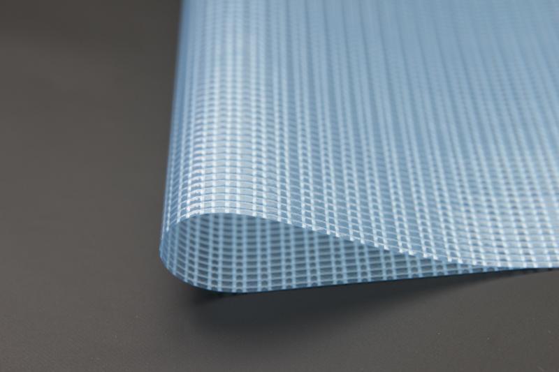 500DPVC透明网格布箱包篷盖车罩夹网布
