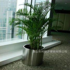 供應烤漆方形簡約不鏽鋼花盆廠家家居耐用落地花盆