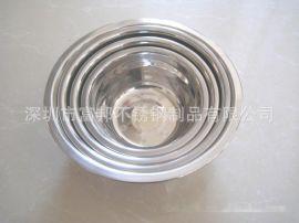 0.8特厚不锈钢汤盆, 不锈钢单层汤碗, 单层饭碗, 12-30CM汤盆