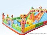 150平方米熊出没大型充气滑梯厂家直销  江西上饶儿童滑梯蹦床价格